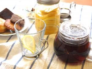 レモンシロップでティータイム
