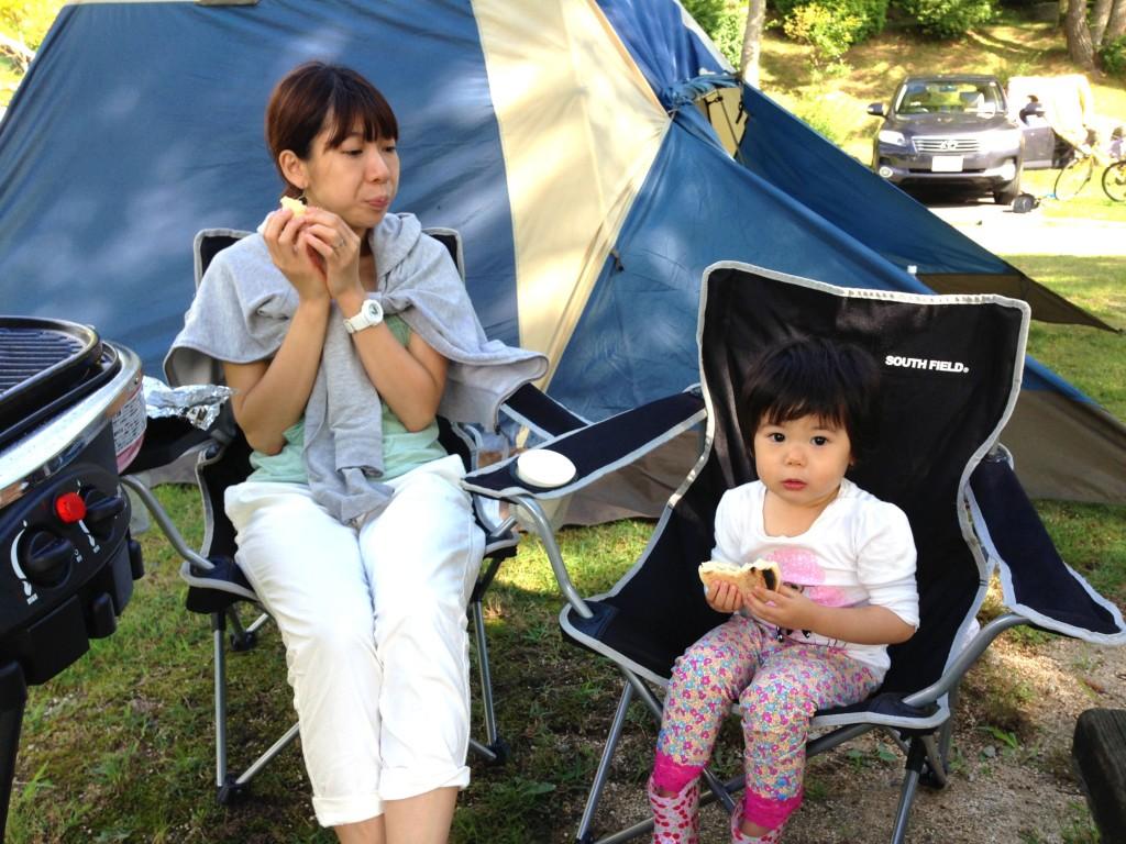 最初のキャンプ写真